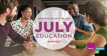 July at Small Business BC