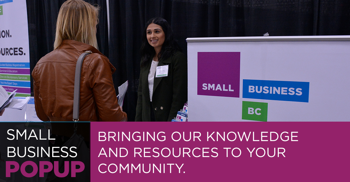small business bc popup
